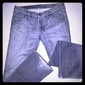 Mens casual stone washed denim